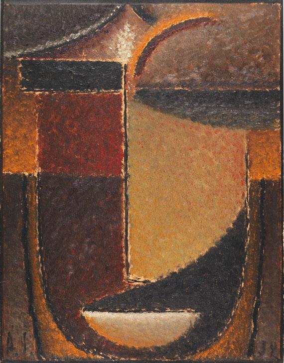 Alexej von Jawlensky - Abstrakter Kopf: Orient - Verhaltene Glut