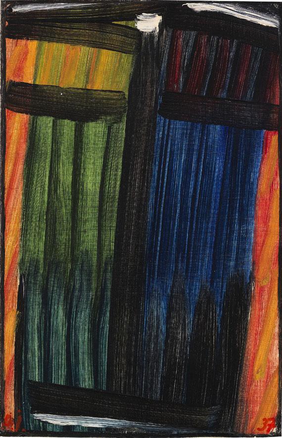 Alexej von Jawlensky - Grosse Meditation: Fegefeuer I