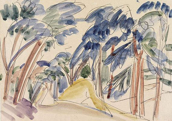 Ernst Ludwig Kirchner - Sanddünen unter Bäumen