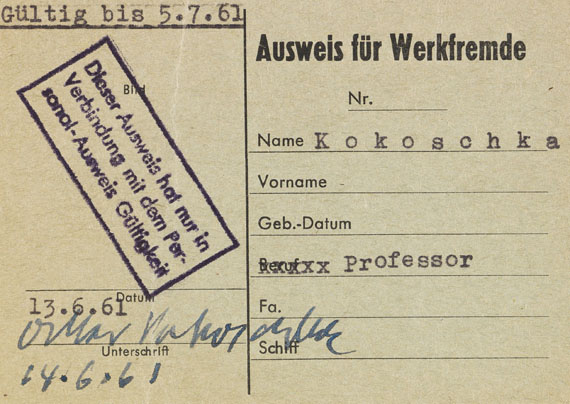 Oskar Kokoschka - Hamburg III - Weitere Abbildung