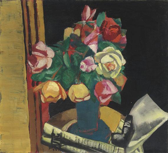 Max Beckmann - Stilleben mit Rosen