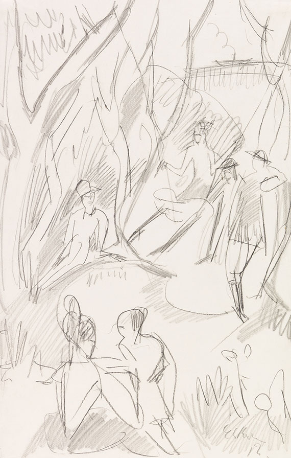 Ernst Ludwig Kirchner - Schaukel
