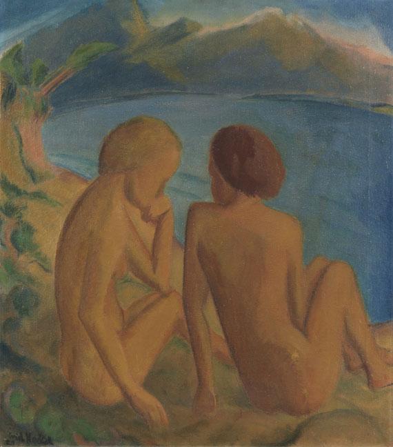 Erich Heckel - Zwei Frauen am Strand
