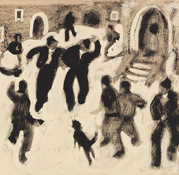 Alfons Walde - Auf dem Dorfplatz
