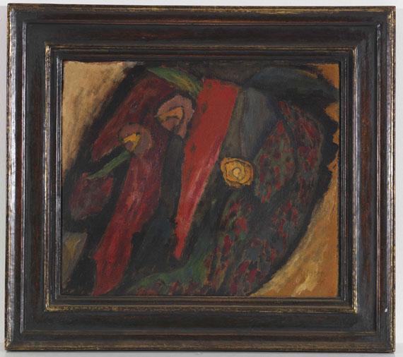 Gabriele Münter - Farbstudie mit Rot und Gelb - Rahmenbild