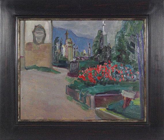 Gabriele Münter - Kirchgarten in Murnau - Frame image