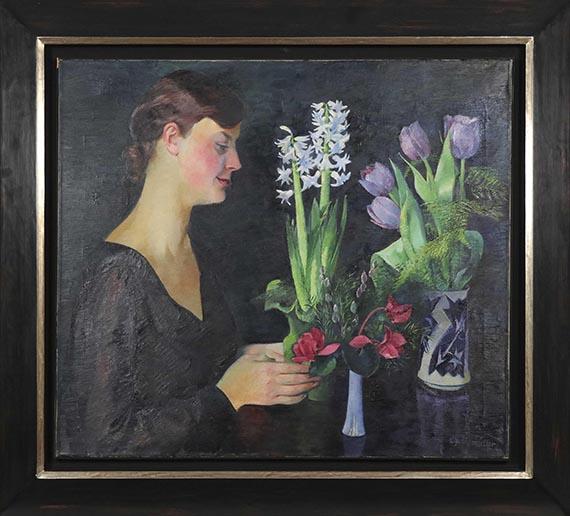 Conrad Felixmüller - Blumenbetrachtung - Rahmenbild