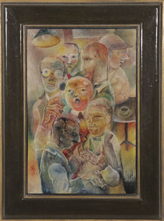 Albert Bloch - Stammgäste - Frame image