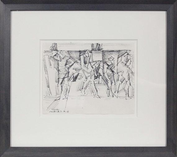 Lyonel Feininger - Badende - Rahmenbild