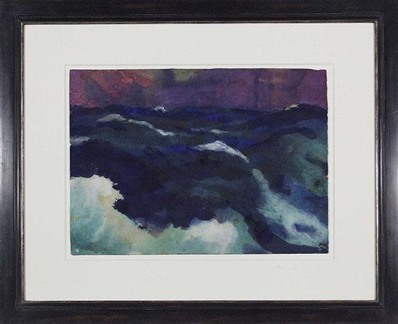 Emil Nolde - Hohe See unter violettem Himmel - Frame image