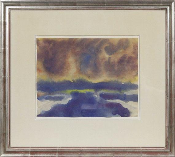 Emil Nolde - Meer mit Wolkenhimmel - Rahmenbild