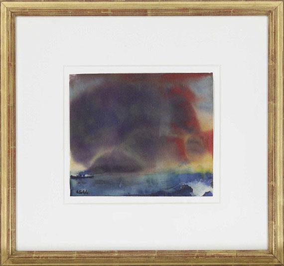 Emil Nolde - Abendwolken am Meer - Rahmenbild
