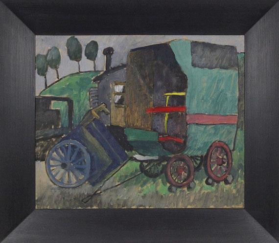 Gabriele Münter - Zigeunerwagen II - Rahmenbild