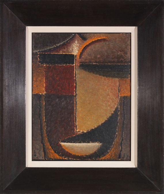Alexej von Jawlensky - Abstrakter Kopf: Orient - Verhaltene Glut - Rahmenbild