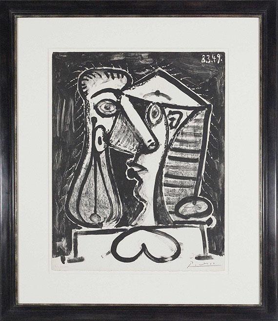 Pablo Picasso - Femme assise au Chignon - Rahmenbild