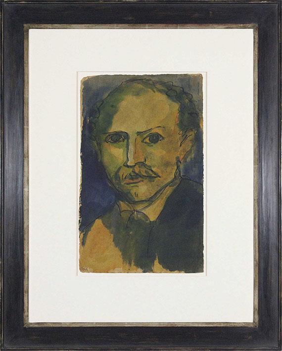 Emil Nolde - Selbstporträt - Rahmenbild