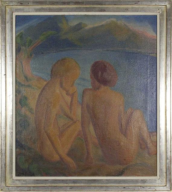 Erich Heckel - Zwei Frauen am Strand - Rahmenbild