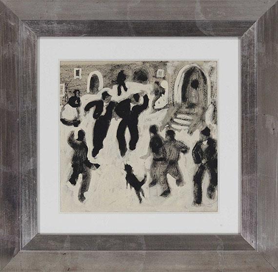 Alfons Walde - Auf dem Dorfplatz - Rahmenbild