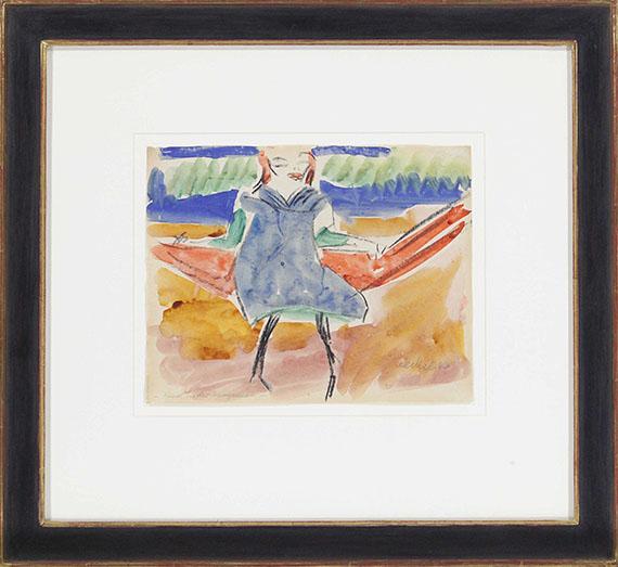 Erich Heckel - (Fränzi) Kind in der Hängematte - Frame image