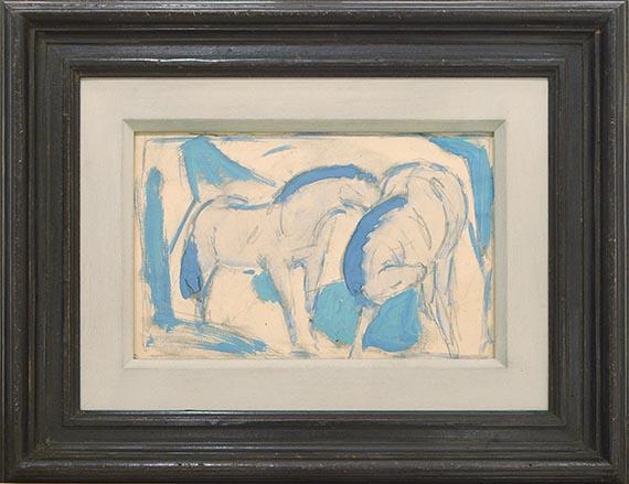 Franz Marc - Zwei Pferde, blaugrün - Frame image