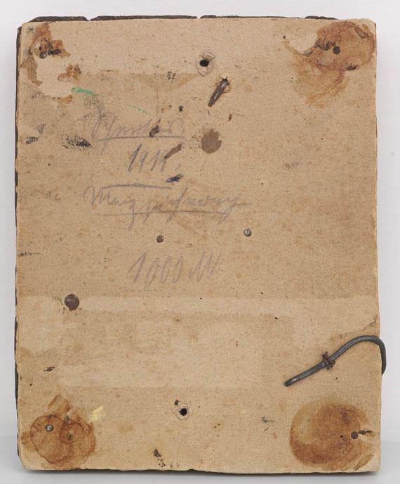 Kurt Schwitters - Merzzeichnung - Rückseite