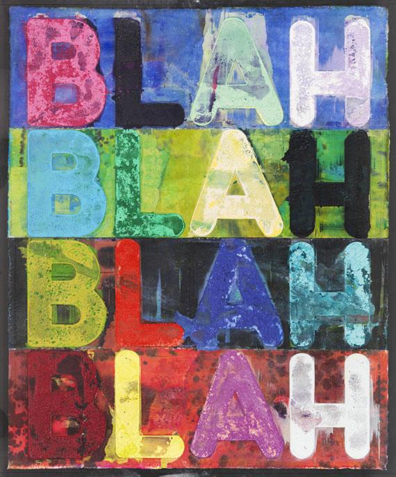 Mel Bochner - Blah, Blah, Blah - Rahmenbild