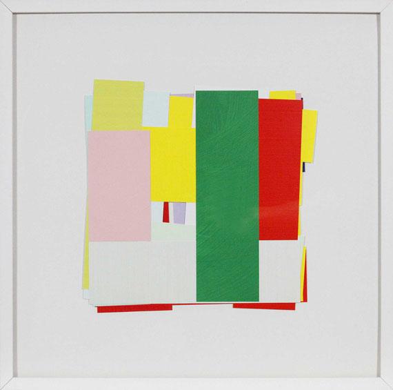Imi Knoebel - 17 Farben, 20 Stäbe - Rahmenbild