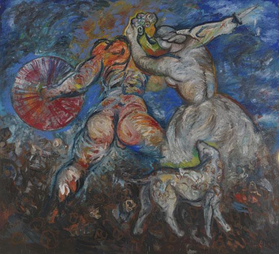 Sandro Chia - Der Hund und sein Meister