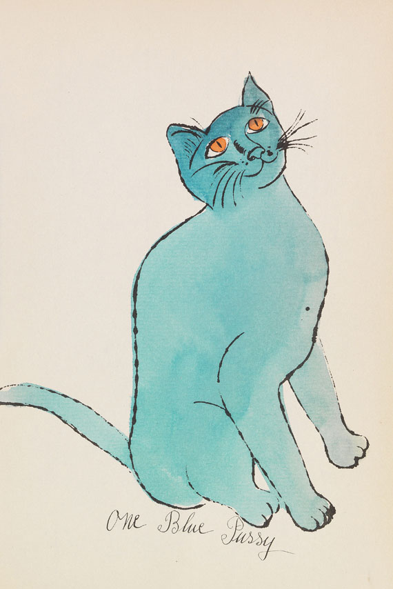 Andy Warhol - 25 Cats name[d] Sam and one Blue Pussy -
