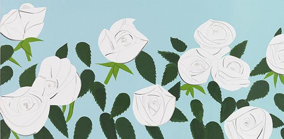 Alex Katz - White Roses