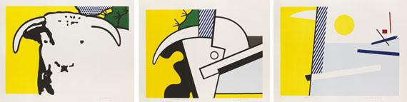 Roy Lichtenstein - Bull Head I - III
