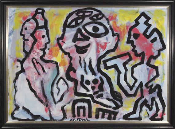 A. R. Penck (d.i. Ralf Winkler) - Plato, Sokrates und Aristoteles 3 - Frame image