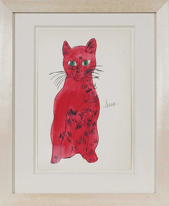 Andy Warhol - 25 Cats name[d] Sam and one Blue Pussy - Frame image