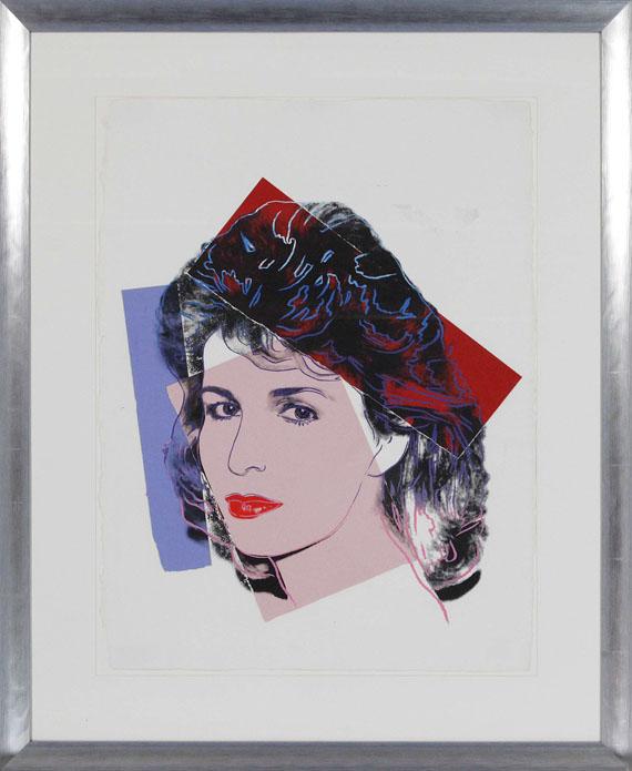 Andy Warhol - Sally Quinn - Rahmenbild