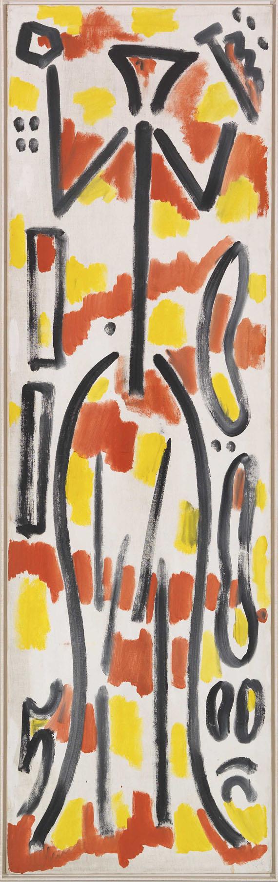 A. R. Penck (d.i. Ralf Winkler) - Projekt Germania (Konzept G) - Rahmenbild