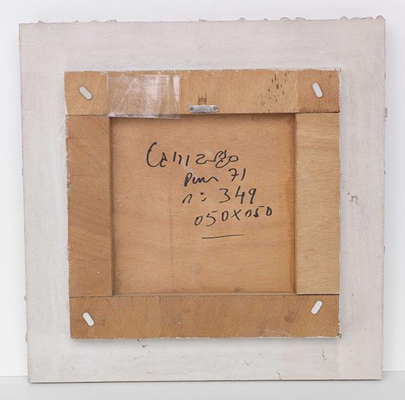 Sérgio de Camargo - Ohne Titel (n°349) - Rückseite
