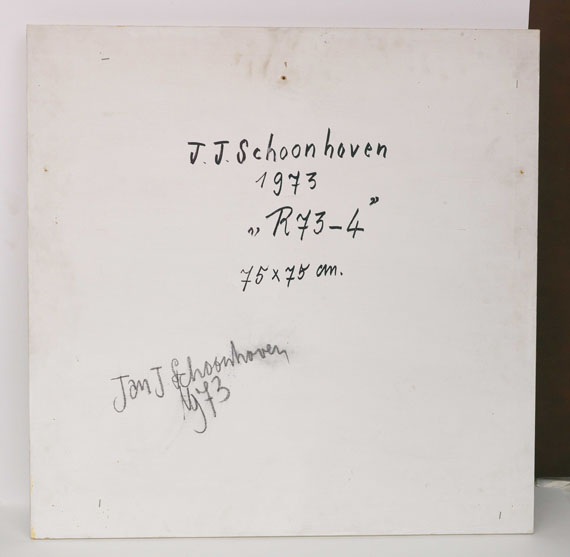 Jan Schoonhoven - R 43-4 - Back side