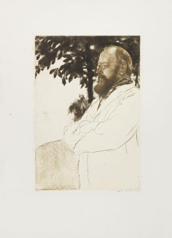 Emil Orlik - 1 Orig.-Radierung: Bildnis Graf Leopold von Kalckreuth.