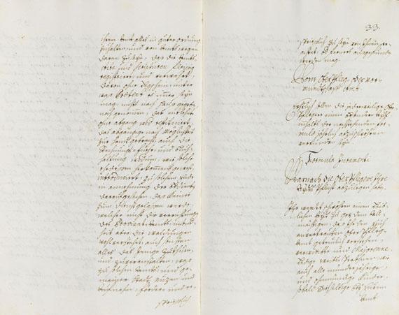 Manuskript - Augsburger Regimentsordnung. 1719.