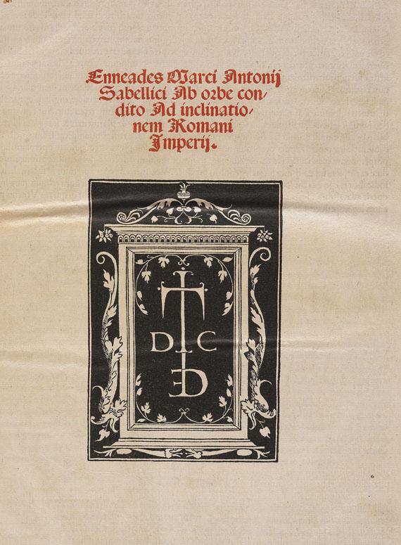 Marcus Antonius Coccius Sabellicus - Enneades -