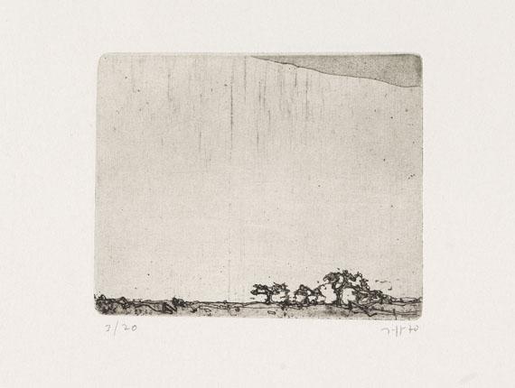 Horst Janssen - Landschaften - 18 Radierungen - Auflage 20 -