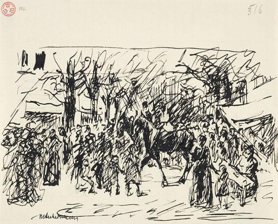 Max Liebermann - 3 Bll. Illustrationsentwürfe zu Goethe und Heine