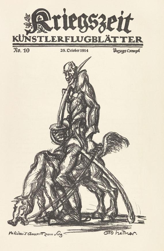 Kriegszeit - Kriegszeit. Künstlerflugblätter. 63 Hefte