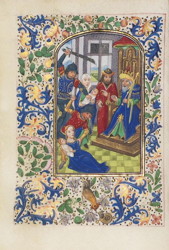 Manuskript - Book of Hours. Workshop Vrelant. Brügge ca. 1460. -