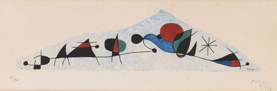 Joan Miró - Et l´oiseau s´enfuit vers les pyramides