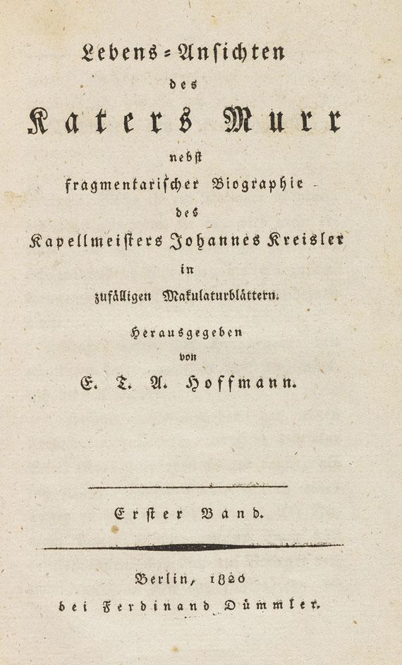 E. T. A. Hoffmann - Lebens-Ansichten des Katers Murr. 2 Bände