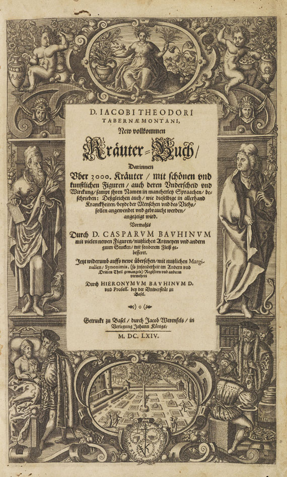 Jacob Theodor Tabernaemontanus - New vollkommen Kräuter-Buch