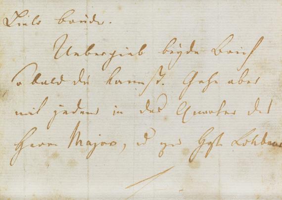 Friedrich von Schiller - Eigh. Brief an W. Reinwald