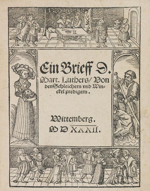 Martin Luther - Drei Luther-Schriften. Dabei: 2 Beigaben. 5 Werke