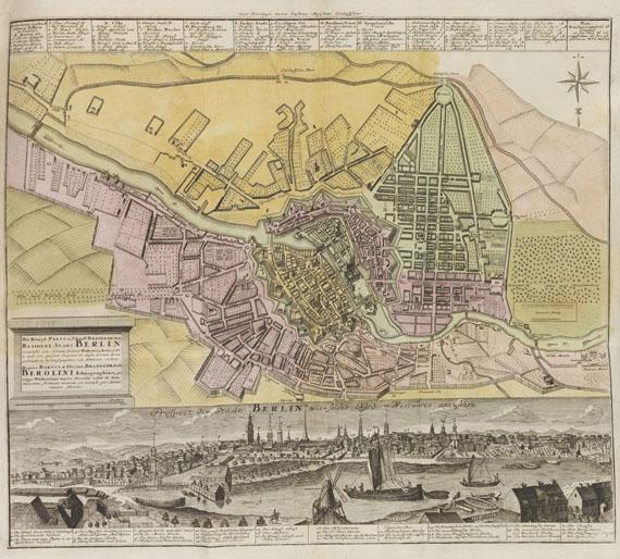 Johann Christoph Müller - und Georg G. Küster, Altes und neues Berlin. 4 Tle. in 2 Bänden
